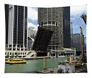 Chicago River Walk Construction Tapestry