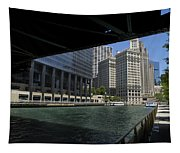 Chicago River Walk Going East 02 Tapestry