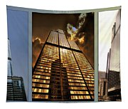 Chicago Tall Shoulders Trump Sears 333 W Wacker Triptych 3 Panel 01 Tapestry