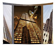 Chicago Tall Shoulders Trump Sears Tribune Triptych 3 Panel 02 Tapestry