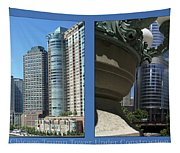 Chicago Trump Tower Under Const 2 Panel Tapestry