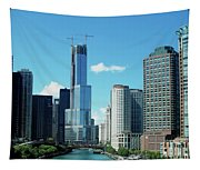 Chicago Trump Tower Under Construction Tapestry