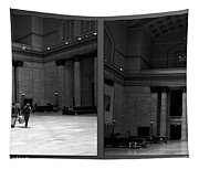 Chicago Union Station The Great Hall 2 Panel Bw Tapestry