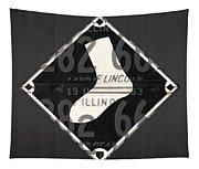 Chicago White Sox Baseball Vintage Logo License Plate Art Tapestry