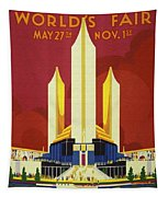 Chicago World Fair A Century Of Progress Expo Poster  1933 Tapestry