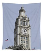 Chicago Wrigley Clock Tower Tapestry