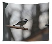 Chickadee - Keeping Watch Tapestry