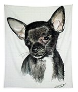 Chihuahua Black 2 Tapestry