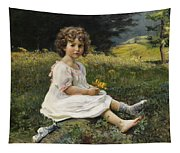 Child In The Meadow Tapestry
