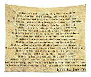 Children Learn What They Live Tapestry