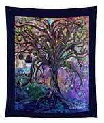 Children Under The Fantasy Tree With Jackie Joyner-kersee Tapestry