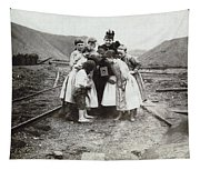 Children With Camera, C1900 Tapestry