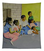 Children's Attention Span  Tapestry by Thomas J Herring