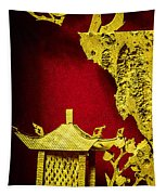 Chinese Cork Carving 2 Tapestry