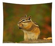 Chipmunk Loving Honey Roasted Peanuts Tapestry