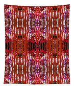 Chive Abstract Red Tapestry