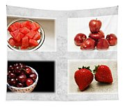 Choice Of Fruit 4 X 4 Collage 1 - Fruit Market Tapestry
