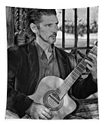 Chris Craig - New Orleans Musician Bw Tapestry