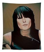 Chrissie Hynde Painting Tapestry