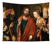 Christ And The Adulteress Tapestry