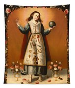 Christ Child With Passion Symbols Tapestry