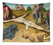 Christ Nailed To The Cross Tapestry
