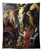 Christ On The Cross Between The Two Thieves Tapestry