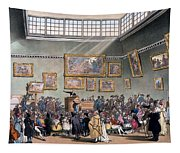 Christies Auction Room, Illustration Tapestry