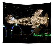 Christmas Airplane Tapestry