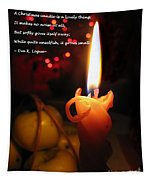Christmas Candle Greeting Tapestry