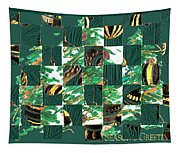 Christmas Card Collage Tapestry