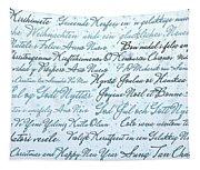Christmas Card Multi Language  Tapestry