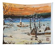Christmas Card Painting Tapestry