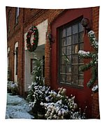 Christmas Decorations In Grants Pass Old Town  Tapestry