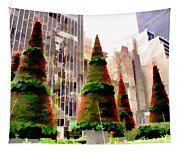 Christmas In New York City Tapestry