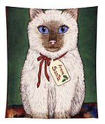 Christmas Kitten Tapestry