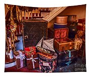 Christmas Luggage Color Tapestry