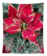 Christmas Poinsettia Tapestry