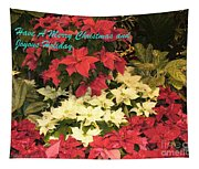 Christmas Poinsettias  Tapestry