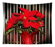 Christmas Red Poinsettia Tapestry