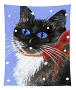 Christmas Siamese Tapestry