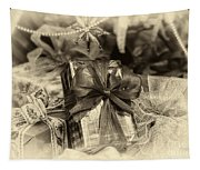 Christmasgift Under The Tree In Sepia Tapestry