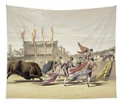 Chulos Playing The Bull, 1865 Tapestry