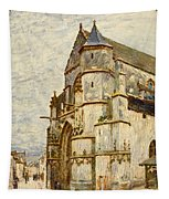 Church At Moret After The Rain Tapestry