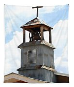 Church Bell Tower In Truchas In New Mexico Tapestry