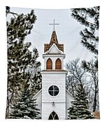 Church In The Woods Tapestry