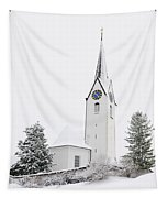 Church In Winter Tapestry