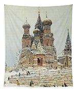 Church Of St. Basil In Moscow Tapestry