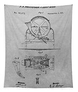 Cider Mill Patent Drawing Tapestry