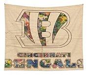 Cincinnati Bengals Logo Vintage Tapestry